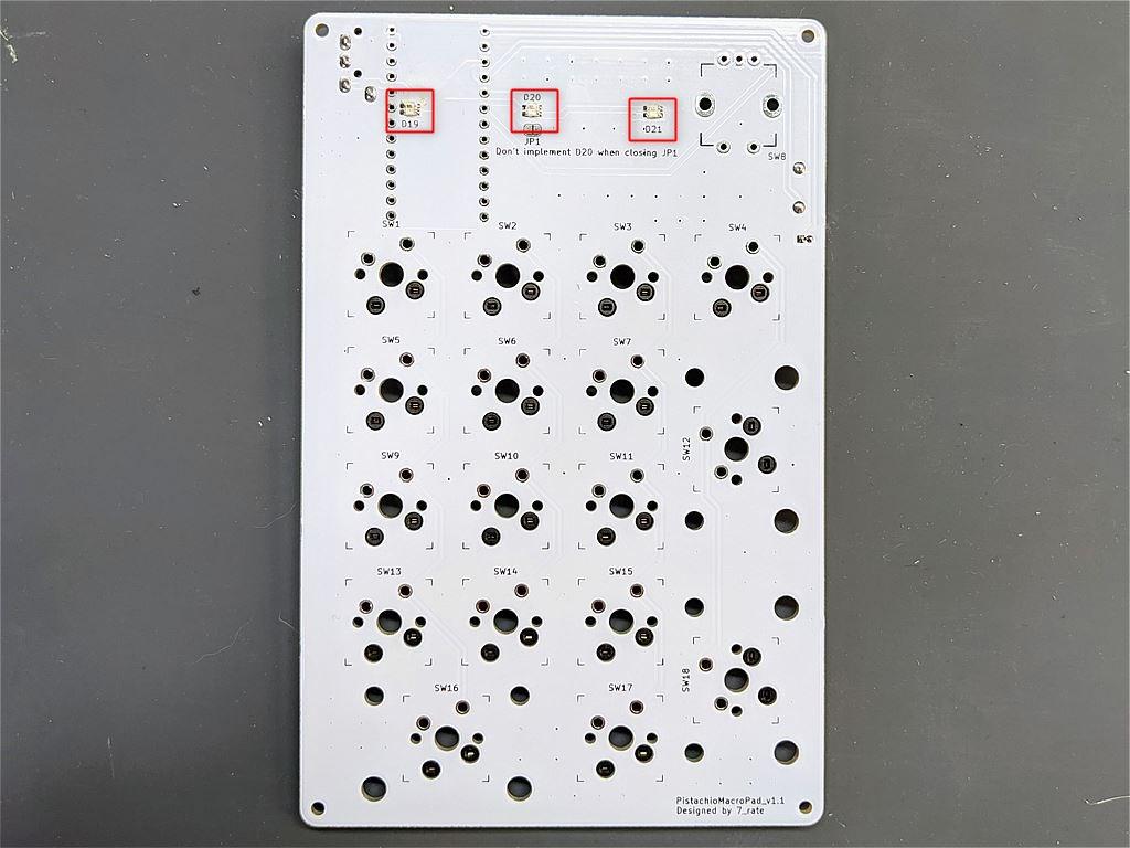 LEDの取り付け位置