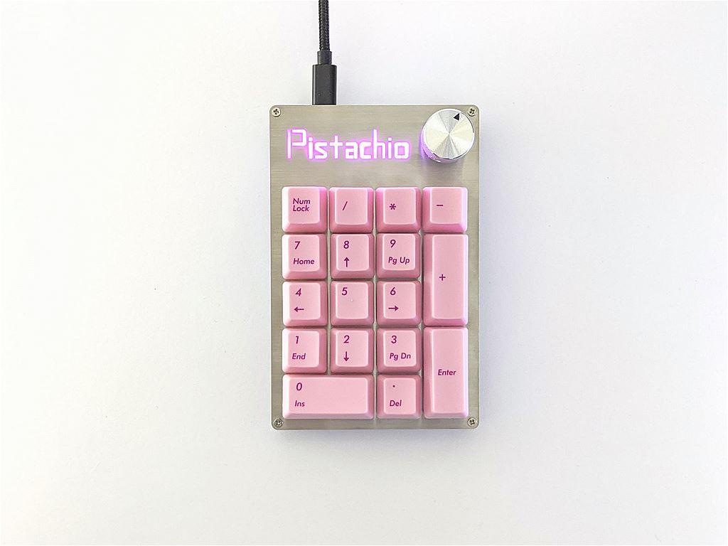 PistachioMacroPadの完成画像